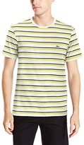 Lacoste Men's Short Sleeve Crewneck Stripe T