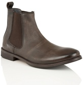 Frank Wright Brown Leather 'omar' Chelsea Boots