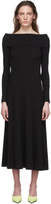 Rosetta Getty Black Off-The-Shoulder Dress