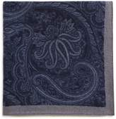 BOSS Tonal Paisley Pocket Square