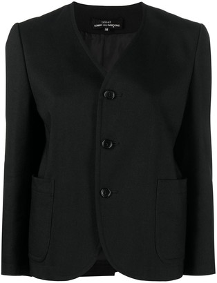 Comme des Garcons V-neck button jacket
