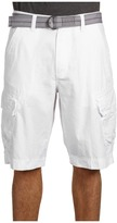 Calvin Klein Jeans Ripstop Cargo Short With Belt (White) - Apparel