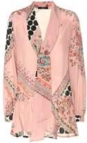 Etro Printed silk-crêpe blouse