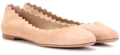 Chloé Lauren suede ballerinas