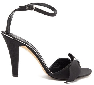MARC JACOBS, RUNWAY Marc Jacobs Runway - Crystal-bow Grosgrain Sandals - Black