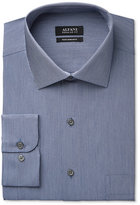 Alfani Men's Classic-Fit Performance Indigo Blue Hairline-Stripe Dress Shirt, Only at Macy's