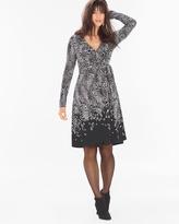 Soma Intimates Faux Wrap Short Dress-Captivating Border Black