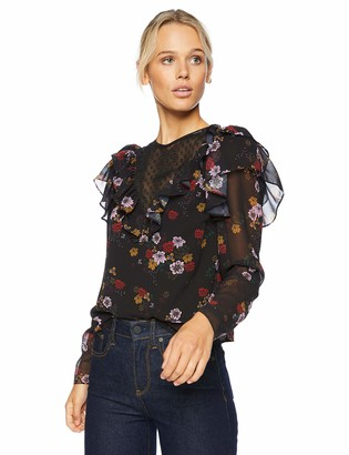 The Fifth Label Women's Keystone Long Floral Sleeve Top with Ruffle Details