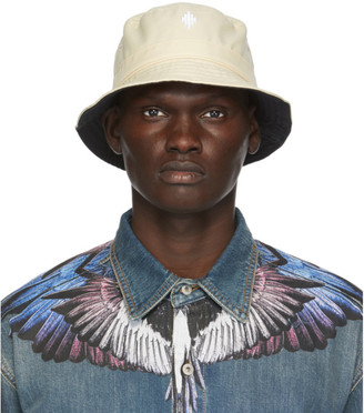 Marcelo Burlon County of Milan Beige Cross Bucket Hat