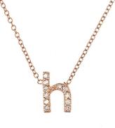 KC Designs Rose Gold Diamond Letter H Necklace