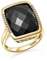 Bloomingdale's Onyx and Diamond Pavé Statement Ring in 14K Yellow Gold