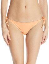 Reef Women's Solids Tie Side Bikini Bottom with Gold Stitch Detail