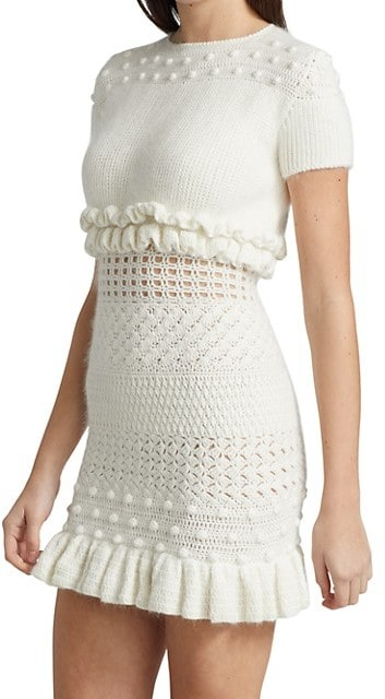 Thumbnail for your product : Frederick Anderson Hand-Crochet Knit Dress