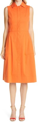Akris A-Line Stretch Denim Dress