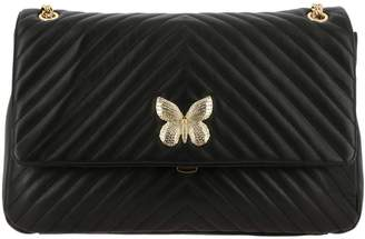 Twin-Set Twinset Twin Set Crossbody Bags Shoulder Bag In Quilted Leather With Butterfly