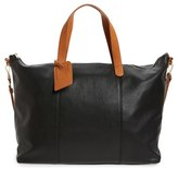 Sole Society 'Candice' Oversize Travel Tote - Black