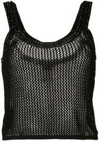 Chanel Pre Owned knitted mesh vest