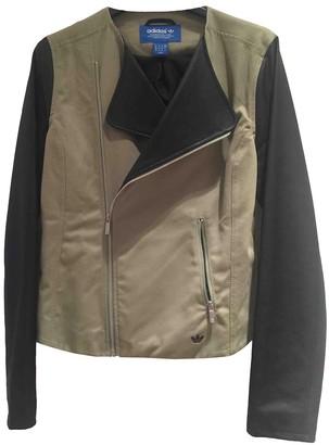adidas Green Cotton Jacket for Women