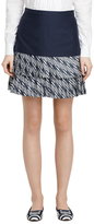 Brooks Brothers Cotton and Silk Pleated Skirt