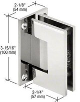 CRL Vienna 037 Series Chrome Wall Mount Shower Door Hinge with Internal 5 Degree Pin by CRL