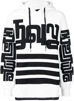 Kokon To Zai side zipped hoodie - men - Cotton/Leather - XS