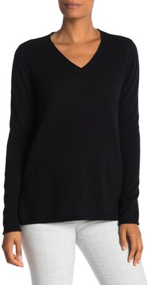 M Magaschoni Cashmere V-Neck Tunic Sweater