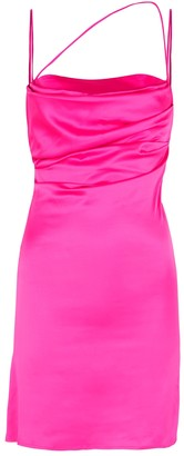 De La Vali Frisco Fuchsia Satin Mini Dress