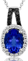FINE JEWELRY LIMITED QUANTITIES Le Vian Grand Sample Sale Genuine Tanzanite and 1/6 CT. T.W. Diamond Necklace