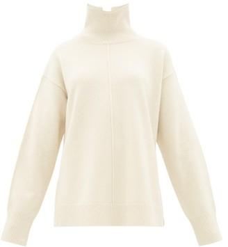 Joseph Brioche-stitched Wool Roll-neck Sweater - Womens - Ivory