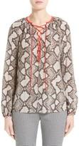 Altuzarra Women's Monterey Python Print Silk Top