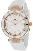 Seapro SP6413 Women's Seductive White Silicone Watch with Crystal Accents