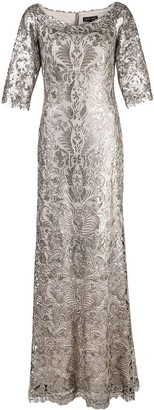 Tadashi Shoji Beaded A-Line Gown