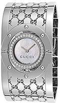 Gucci Women's YA112415 112 Diamond Bangle Mother-of-Pearl Dial Watch