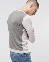 Asos Cotton Sweater with Contrast Back