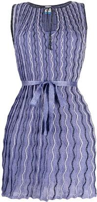 M Missoni Knitted Wave-Pattern Dress