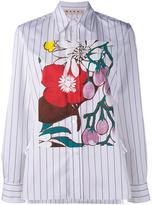 Marni floral print stripe shirt - women - Cotton - 38