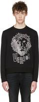 Versus Black Lion Head Pullover