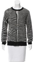 A.L.C. Zebra Print Crew Neck Sweater