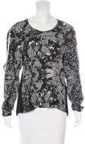 Yigal Azrouel Printed Silk Top