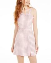 Planet Gold Derek Heart Juniors' Cotton Gingham-Print Dress