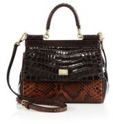 Dolce & Gabbana Calf Leather Top Handle Satchel