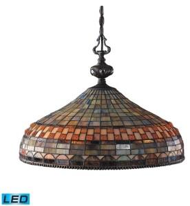 Elk Lighting Jewelstone 3-Light Pendant in Classic Bronze - Led, 800 Lumens (2400 Lumens Total) with Full Scale Dimming Range