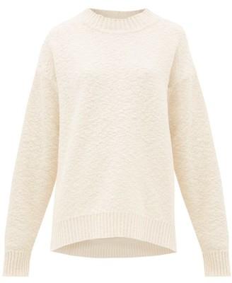 Jil Sander Round-neck Cotton-blend Boucle Sweater - Cream