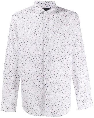 John Varvatos Abstract Print Classic Collar Shirt