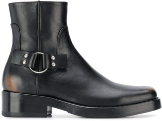 Raf Simons Buckle-Detail Ankle Boots