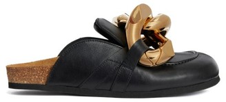 J.W.Anderson Chain-embellished Leather Mules - Black Gold