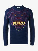 Kenzo Tiger Embroidered Wool Jumper