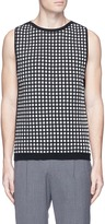 Wooyoungmi Textured grid knit vest