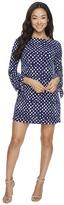 Tahari by Arthur S. Levine Petite Jersey Tie Sleeve Shift Dress