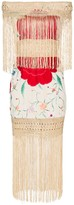 One Vintage floral-embroidered fringe dress